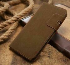 Magnetic Olive Magnetic Flip Wallet Swede Leather Case For iPhone 6 6s {pd169