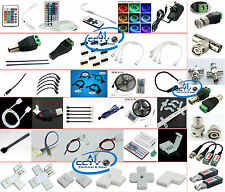 3528 & 5050 RGB LED Light Strips 2-Pin 4-Pin Connector Cable & Other Accessories