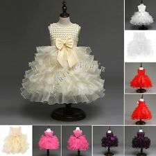US Flower Princess Toddler Baby Girls Wedding Party Pageant Fancy Tutu Kid Dress