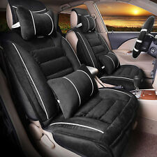 Car Breathable Plush Universal fit car 5seat covers Winter steering wheel cover