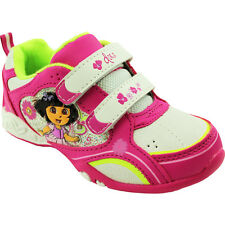 Dora the Explorer Girls White Lighted Sneakers Shoes DA6857AIL2 5 6 7 8 9 10
