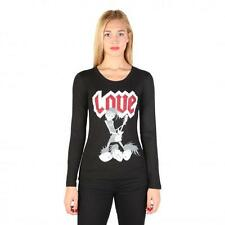 Love Moschino Clothing Women T-shirts Black 74758 Outlet BDX