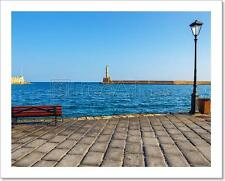 View Of The Old Port And Lighthouse In Chania, Crete, Greece