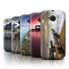 STUFF4 Phone Case/Back Cover for Motorola Moto E (2015) /English Seaside