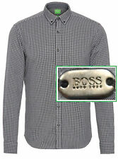 NWT Hugo Boss Green Label By Hugo Boss Modern Fit Dotted Check Long-Sleeve Shirt