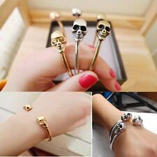 Retro Jewelry Alloy Metal Bangle Bracelet Cool Cuff Gothic Rock Skeleton Skull