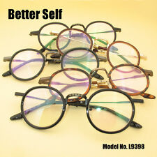 Acetate Temple Eyeglasses Designer Optical Glass Frame Retro Round Eyeglasses