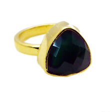 Green onyx Copper Ring L-1in well-favored Green jaipur AU K,M,O,Q