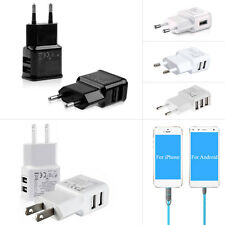 Dual Ports USB Travel Home AC Wall Charger Adapter EU/US Plug For Android iPhone