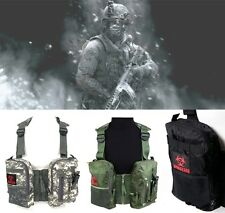 CA Biohazard Outdoor Vest Military Tactical ARMY Multi-vest Hiking Fishing Belt