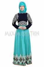 DUBAI TAKSHITA  GEORGETTE ARI WORK  HAND EMBROIDERY JILBAB ARABIAN  DRESS 5814