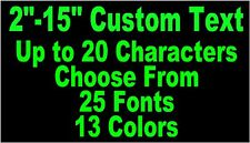 Custom Personalized Vinyl Text Lettering Decal Custom Stickers