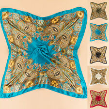 35'' x35'' Scarf Square Large Headband Kerchief Women Satin Luxury Wrap Bandana