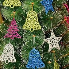 6pcs Multicolor Xmas Star Bell Christmas Tree Hanging Decor Holiday Ornament Hot