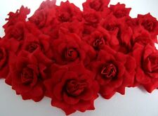 500 DARK RED SILK ROSE FLOWER HEAD ARTIFICIAL WHOLESALE LOTS DECOR FREE EXPRESS