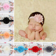 ALL New Baby Girls Toddler Lace Flower Headband Hair Band Headwear Accessories