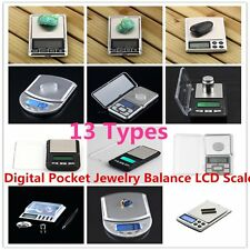 500g x 0.01g Digital Pocket Jewelry Balance LCD Scale / Calibration Weight SI