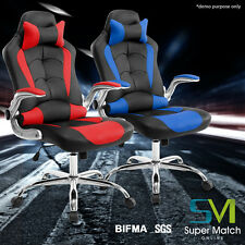 High Back Ergonomic Racing Gaming Computer Desk Office Chair PU Leather  Chair