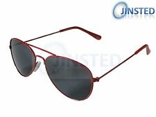 Childs Red Aviator Girls Boys Kids Childrens Sunglasses Shades Sunnies KA006