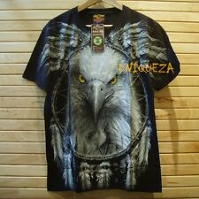 3D EAGLE Face Full HD Printed Front Back Sleeve Glow in The Dark T-shirt