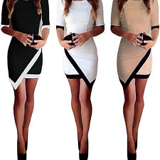 ALL Hot Women Bodycon Clothing Asymmetric Evening Party Cocktail Sexy Mini Dress