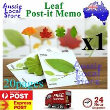20 Sticky Notes POST-IT Memo Pad Exquisite Leaf it Leaves Note Message Tree