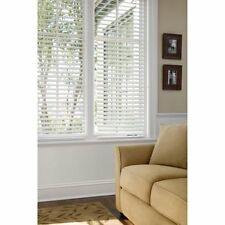 Faux Horizontal Window Wood Blinds Home Furniture Decorators White 2 Inch New