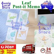 40 Sticky Notes POST-IT Memo Pad Exquisite Leaf it Leaves Note Message Design