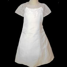 New Girl 1st Communion  Wedding Flower Girl Easter White Dress size 5 6,7,8,10