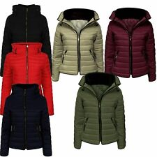 Women Puffer Bubble Fur Collar Warm Thick Zara Quilted Padded Jacket Plus & Kids