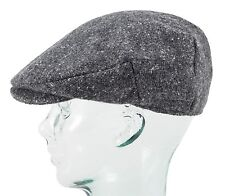 Charcoal with White Flecks Donegal Tweed Vintage Cap by Hanna Hats