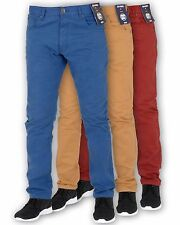 BNWT NEW MENS ENZO SKINNY SLIM FIT CHINOS JEANS PANTS TROUSERS ALL WAIST & SIZES