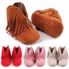 Baby Kids Infant Girls Shoes Soft Sole Anti-Slip Prewalker Boots Booties 0-18M