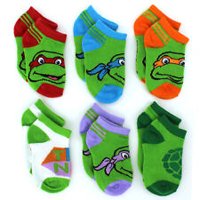 TMNT Teenage Mutant Ninja Turtles Baby 6 pk Socks 5322QH 6-12M 12-18M 18-24M