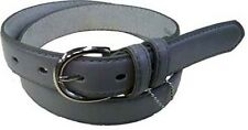 "5549 - 1.25"" WIDE GRAY LEATHER DRESS BELT FOR LADIES & FREE US SHIPPING"