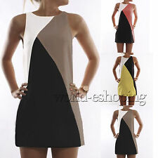 Plus Size Womens Casual Sleeveless Party Evening Cocktail Beach Dress Long Tops