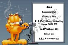 Garfield Personalised Kids Party Invitations Thank You Cards A6 Glossy + Env