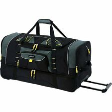 "Rolling Wheeled Tote Duffel bag Travel Luggage w/ith Blade Wheels 36"" 2 Section"