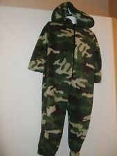 Boys Chic London Camouflage Fleecy Polyester Onesie - Size 7-8 Years