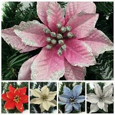 Hot Artificial Glitter Flower Christmas Tree Party Ornaments Home Decoration LIN
