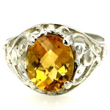Citrine, 925 Sterling Silver  Ring, SR004-Handmade