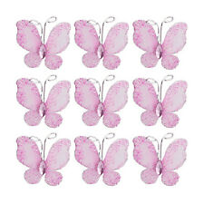 50pcs Wire Mesh Butterfly with Rhinestone Wedding Craft Embellishment DIY Decor