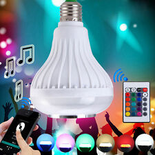Smart Music E27 Bulb RC Colorful LED Lamp Bluetooth 3.0 Speaker Remote Wireless