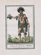 1780 - Tahuata Marquesas islands French Polynesia Oceania natives antique  67606