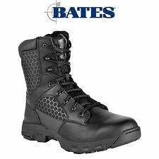 "Mens Bates Tactical Code 6 Boots Side Zip 8"" Lace Lightweight Leather E00608"