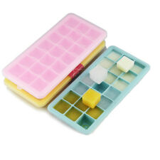 Silicone Ice Cube Tray Mold with Lid DIY Chocolate Jelly Mould Maker for Whiskey