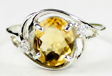 Citrine, Solid 925 Sterling Silver Ladies Ring, SR021-Handmade