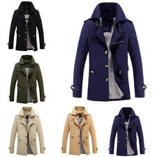 Men's Trench Coat Autumn Long Jacket Overcoat Coat Business Outwear Casual