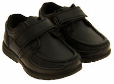 Boys Kids GOLA Black Trainers Coated Leather School Shoes  Sizes 9 10 11 12 13 1