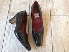 RENATA, BLACK PATENT LEATHER SHOES, MADE IN ITALY, SIZE 36